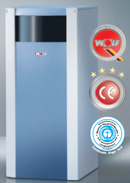 WOLF modelo COB 20 de pie de 19-20 Kw solo calefacción caldera para gasóleo condensación estanca