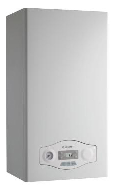 ARISTON modelo EGIS PLUS 24 FF  de 24 KW con barra de conexiones y kit de evac. caldera para gas natural mural mixta estanca