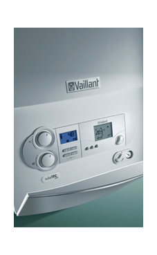 VAILLANT modelo TURBO TEC PLUS de 28/32 KW  (VMW ES 28/322/4-5) con plantilla y kit evac. caldera para gas natural mural mixta estanca