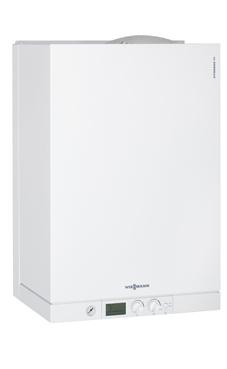 VIESSMANN modelo VITODENS 111-W B1LB de 26 KW  (interacumulador de 46 litros integrado) con valvuleria y kit extrac. caldera para gas natural mural estanca condensación mixta