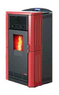 LASIAN ETNA de  3,9 a 8,2 Kw. calentamiento mediante aire de 8,2 KW de potencia térmica máxima. Capacidad de calentamiento de 140 m3 (modelos en burdeos y beige)  con mando a distancia.